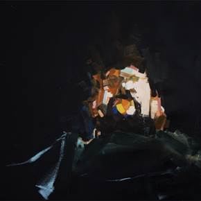 MISREPRESENT IV, original Abstract Oil Painting by Daniel Xavier