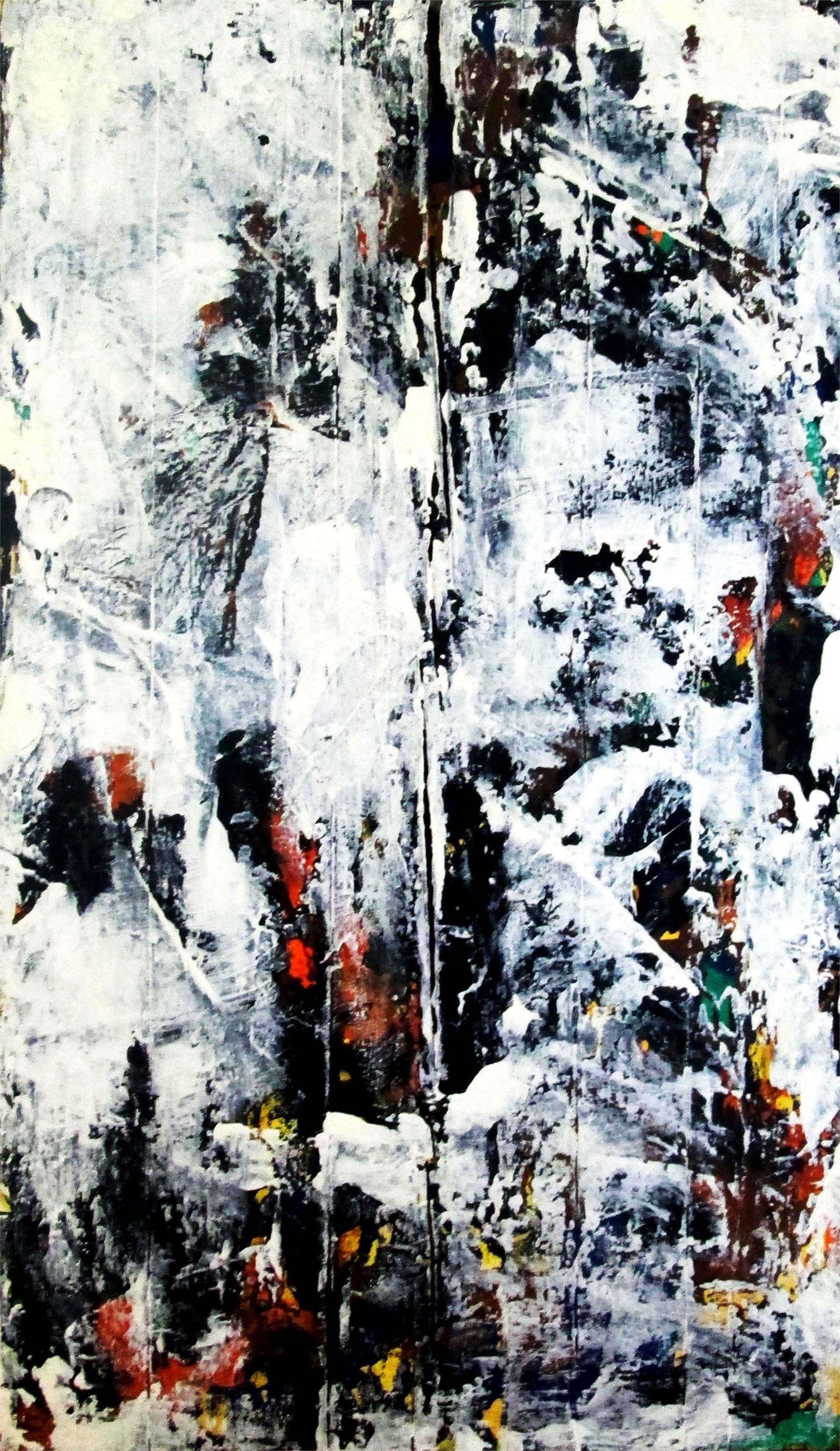 Snow Storm, original Abstract Acrylic Painting by Tiago Duarte