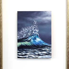Oceano pacífico IV, original Nature Oil Painting by Gustavo Fernandes