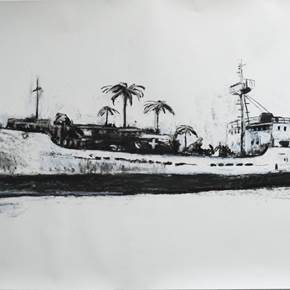 Sem título, original Places Charcoal Drawing and Illustration by Gabriel Garcia