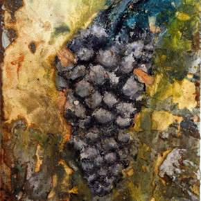 A paz entre as uvas II, original Nature Canvas Painting by Alexandre Rola