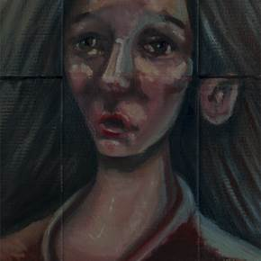 Sem Título, original Human Figure Oil Painting by Hugo Travanca