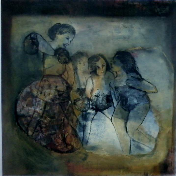 The bad girls go everywhere, original Avant-Garde Canvas Painting by CARLA GONCALVES