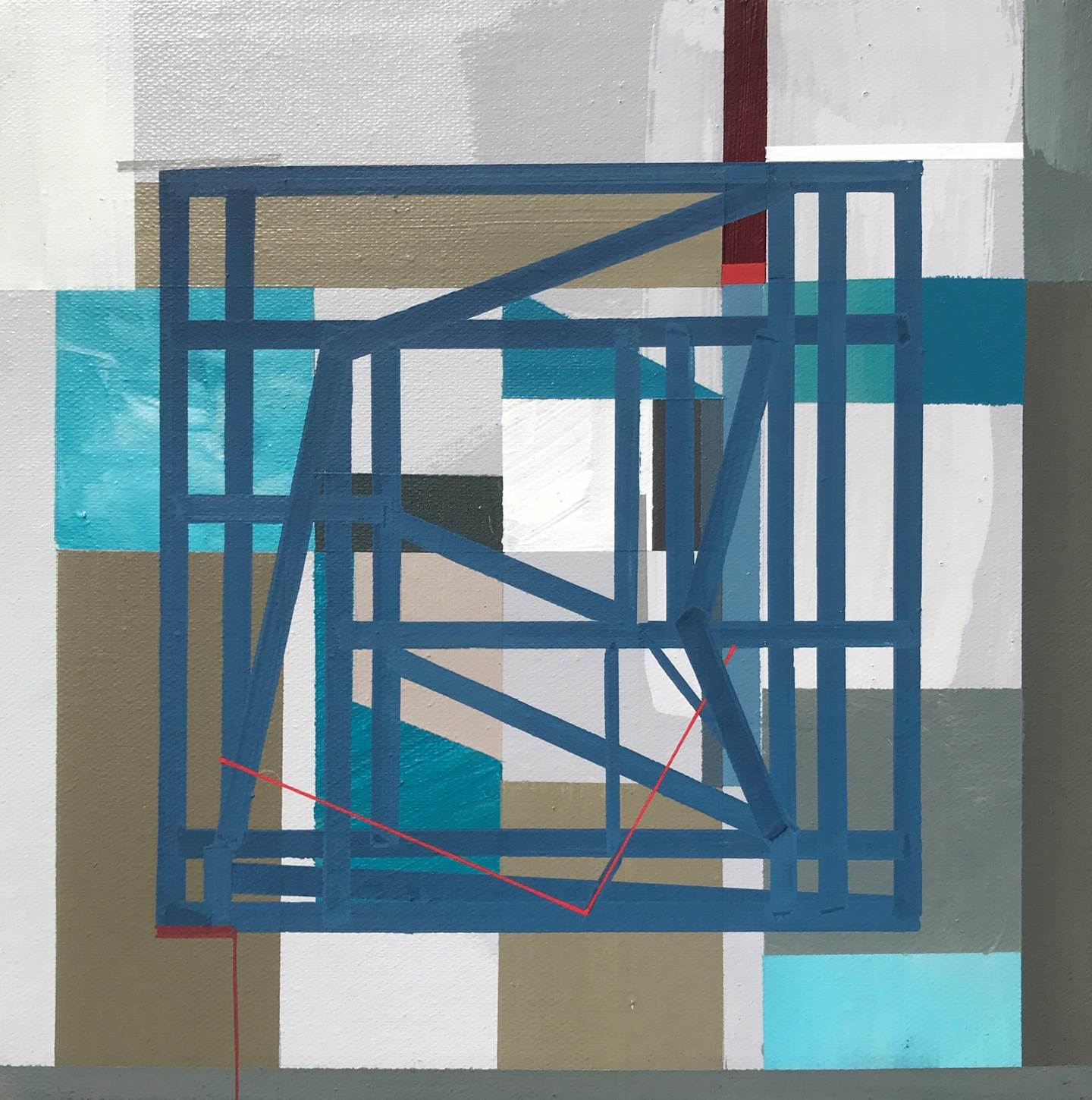 """Non-Structural II"", original Geometric Acrylic Painting by Pedro Besugo"