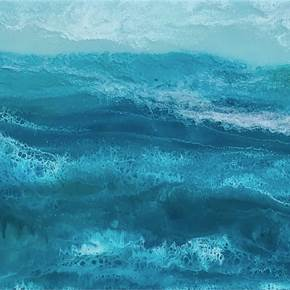 Ocean Swells, original Nature Mixed Technique Painting by Tiffani Buteau