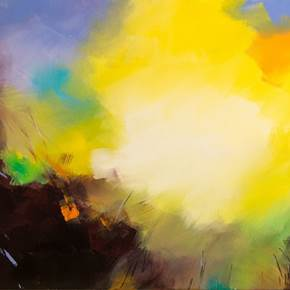 Luzes diáfanas, original Abstract Mixed Technique Painting by Paul  Mathieu
