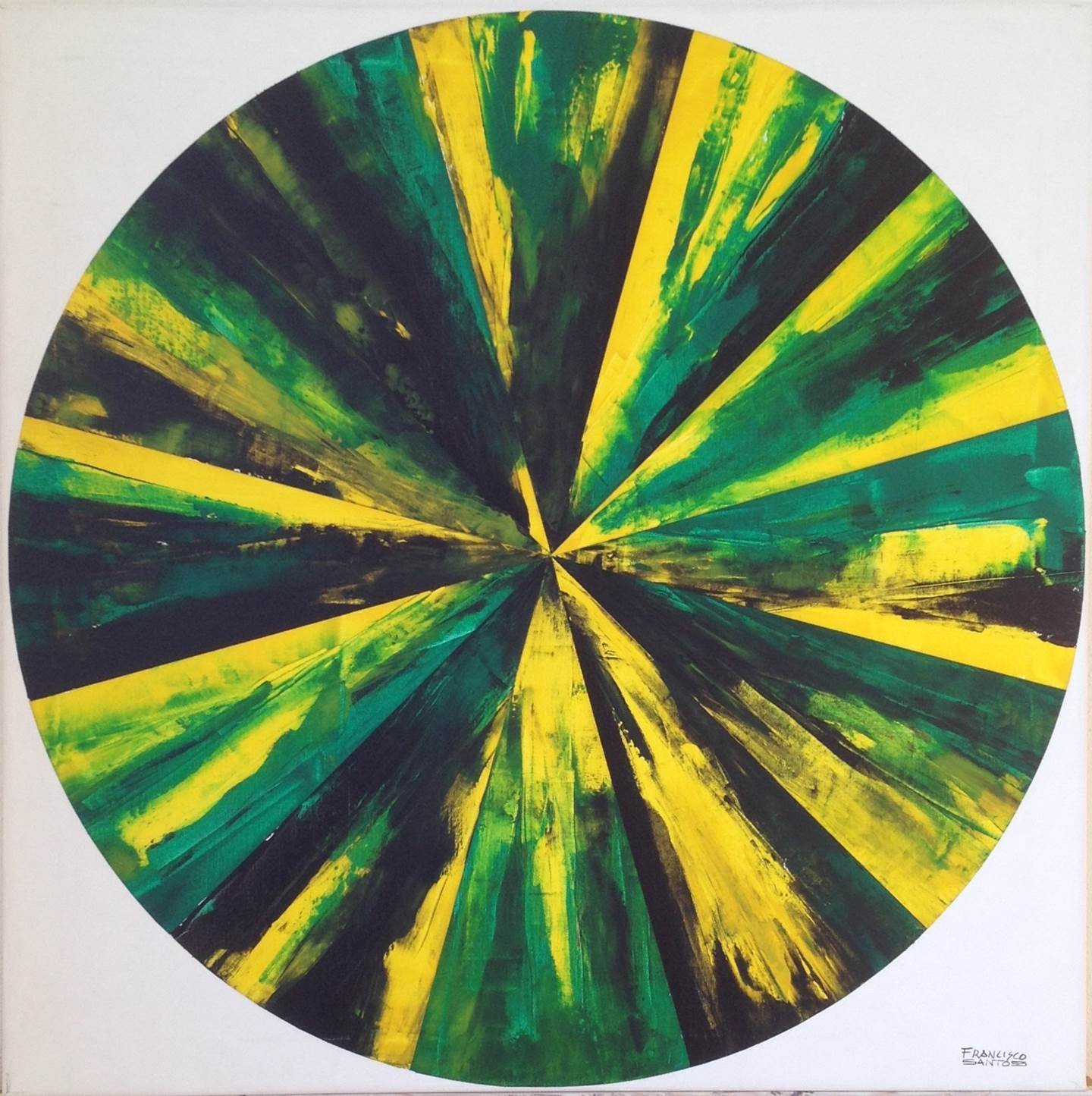 Abstract Circle2, original Abstract Acrylic Painting by Francisco Santos