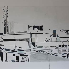 Under Construction 8, original Places Mixed Technique Painting by Sofia  Leitão