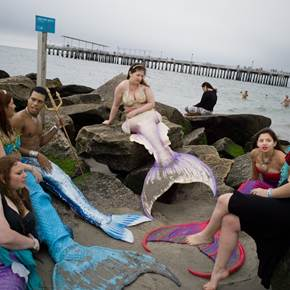 Modern-day mermaids. Coney Island, NYC, original Body Digital Photography by Dimitri Mellos
