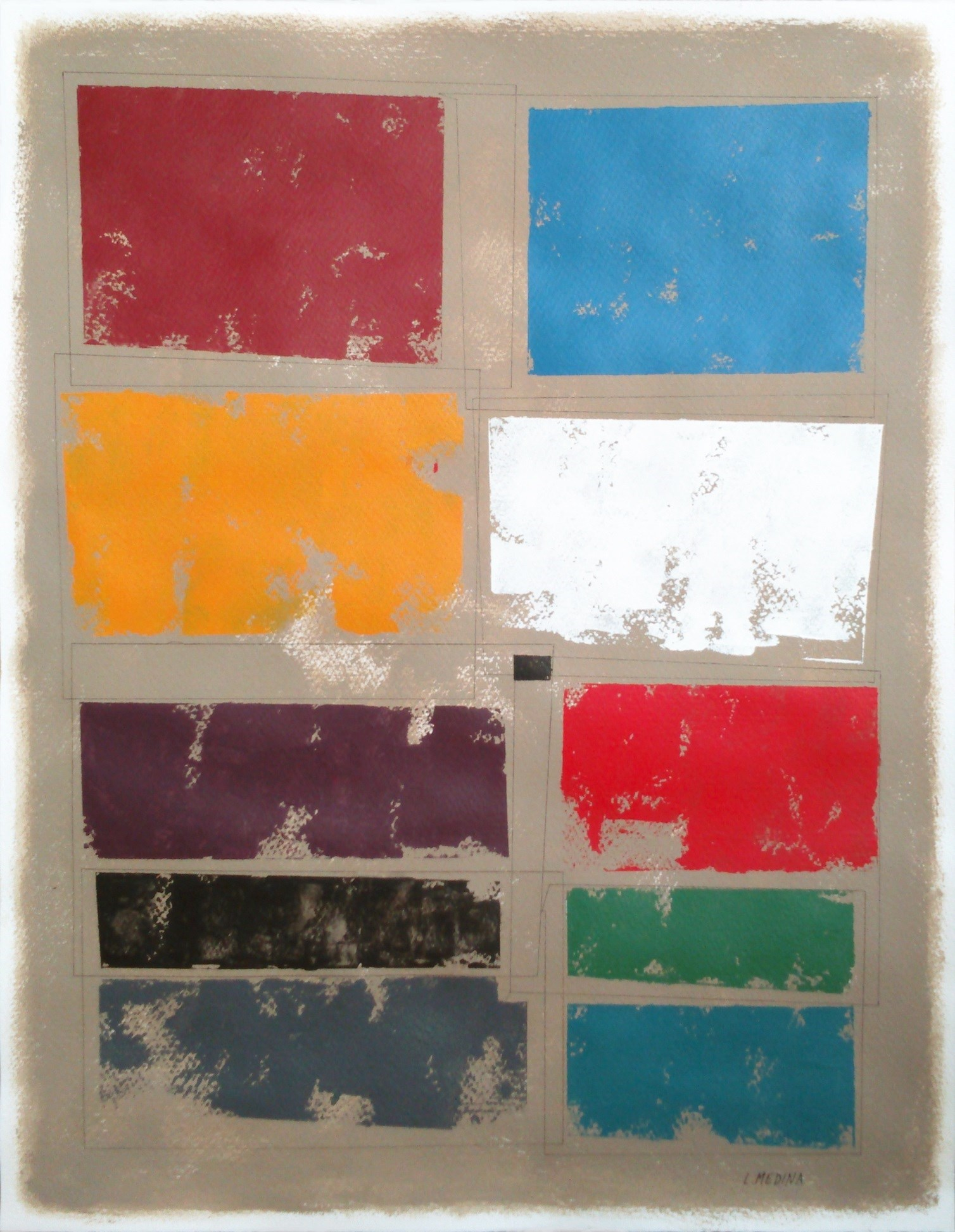 NG5 , original Abstract Paper Painting by Luis Medina