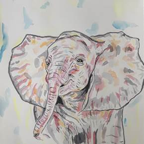 Elefante , original Abstract Ink Drawing and Illustration by Renato Macedo