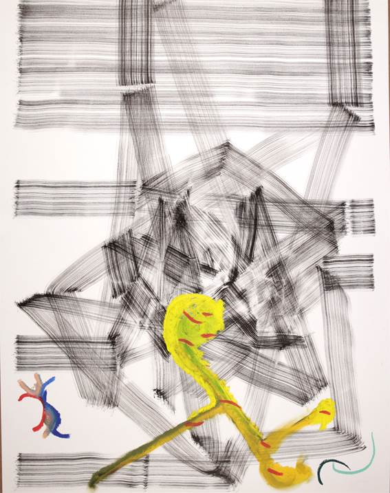 Moire #12, original Abstract Ink Drawing and Illustration by Rui Horta Pereira
