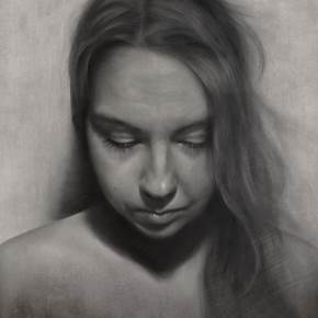 Ana, original Woman Charcoal Drawing and Illustration by Cris DK