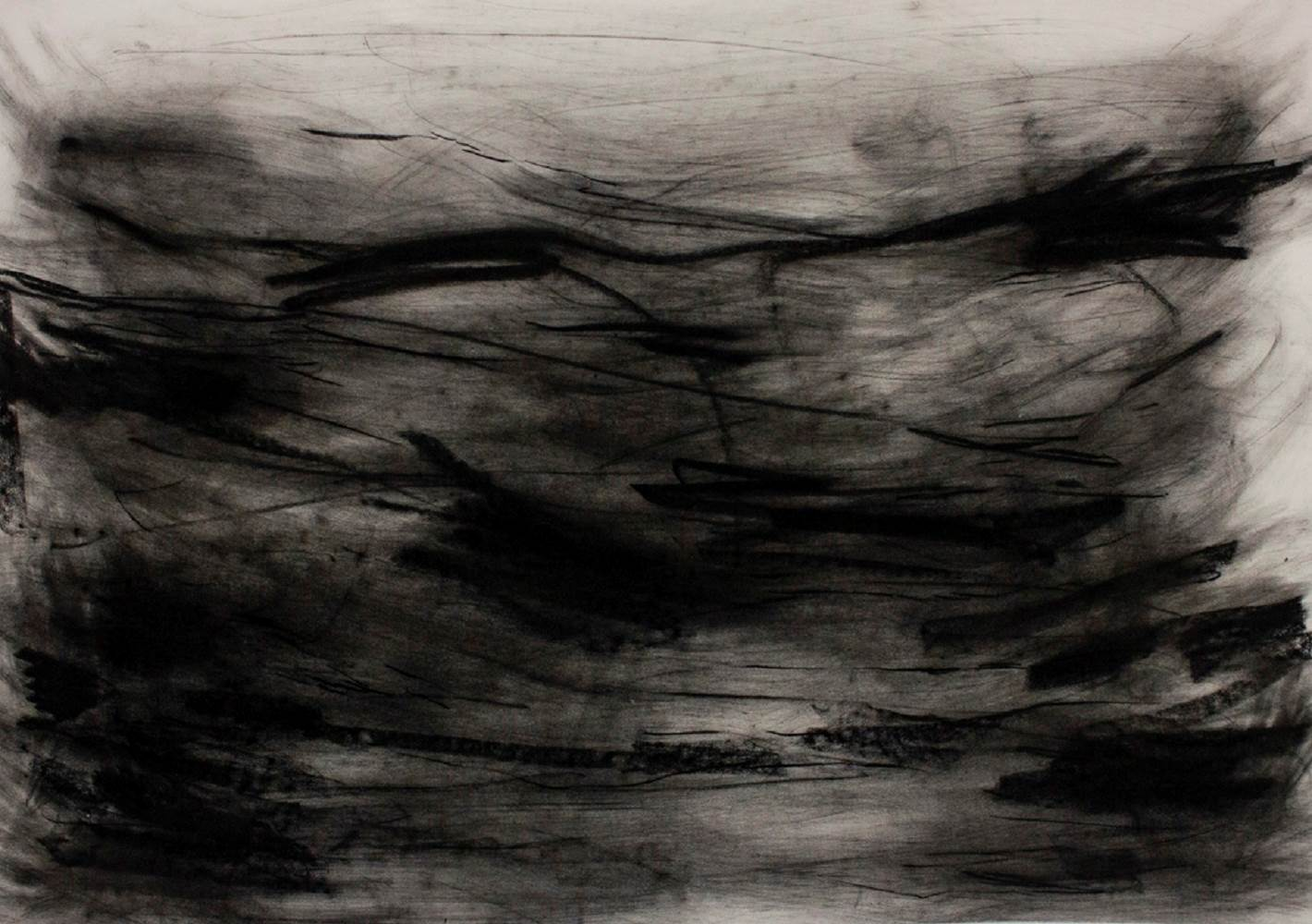 Sem título, original Abstract Charcoal Drawing and Illustration by Marco Pestana