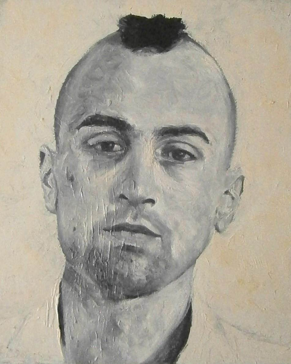 """Travis Bickle"" (Robert De Niro), original Human Figure Oil Painting by Ricardo Gonçalves"
