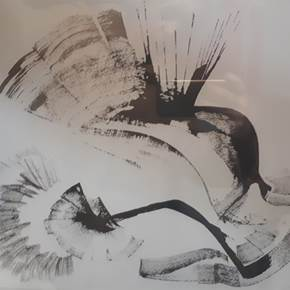 Sem título, original Abstract Paper Painting by Sara de Neyman