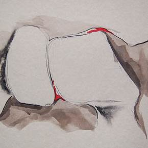 Perfume_5, original Abstract Ink Painting by Paulo Canilhas