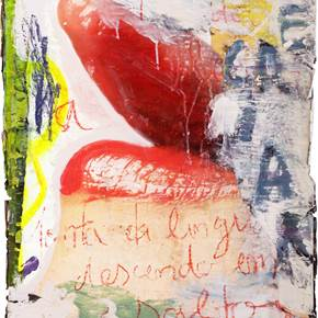 Sentir é criar, original Avant-Garde Mixed Technique Painting by Alexandre Rola