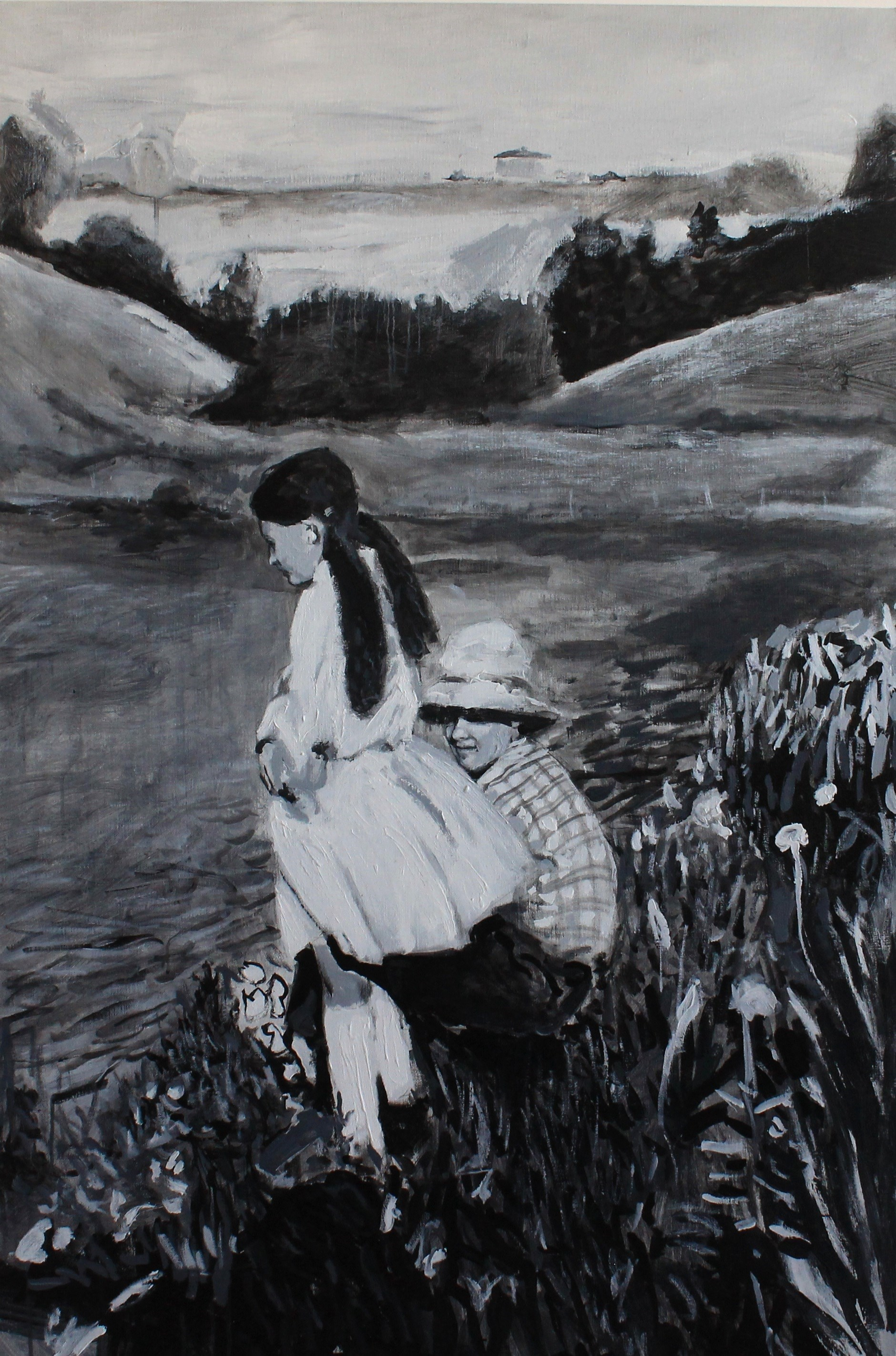 Segredos e Constatações, original Body Acrylic Painting by Ludgero Almeida