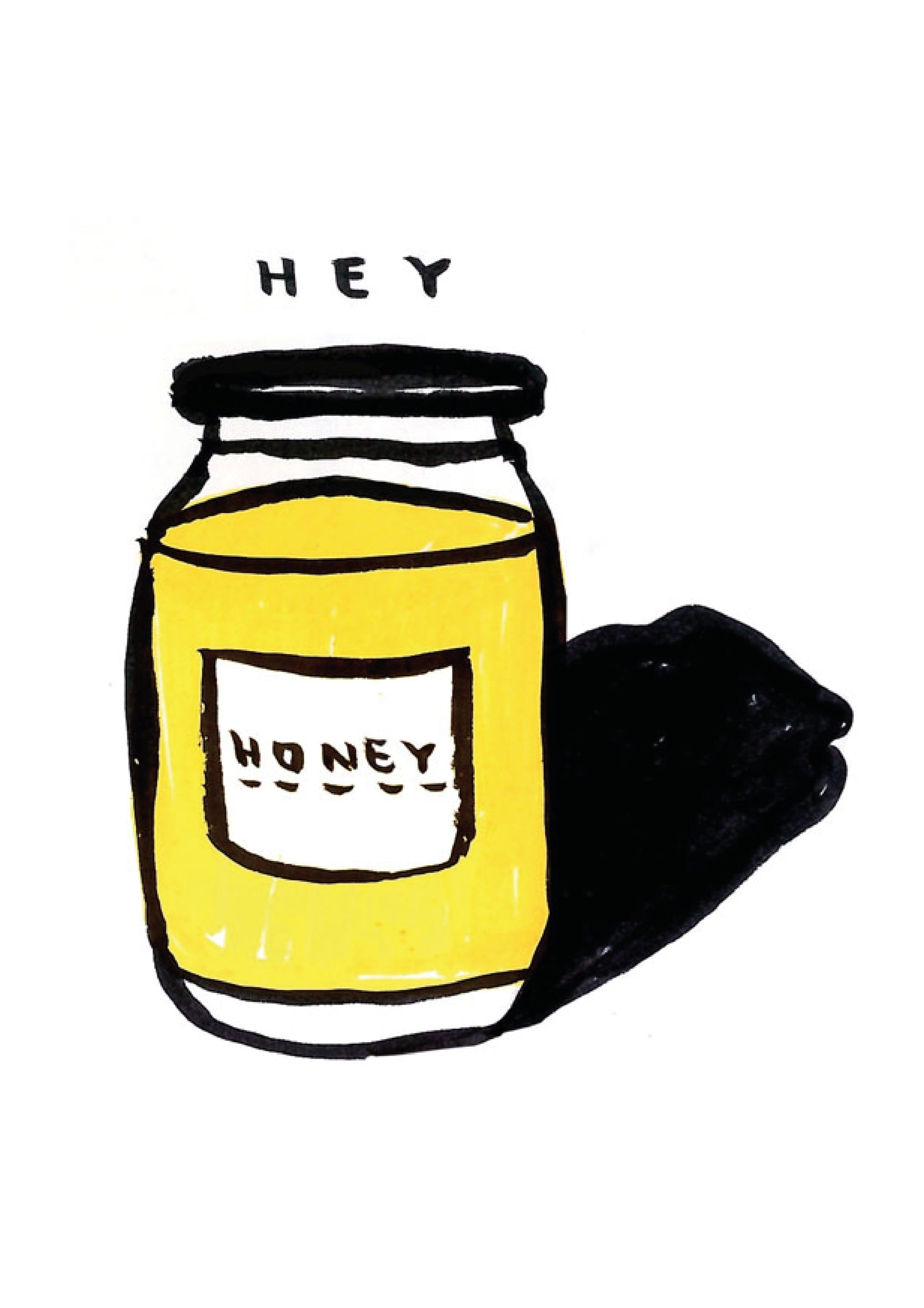 Honey, original Minimalist Digital Drawing and Illustration by Shut Up  Claudia