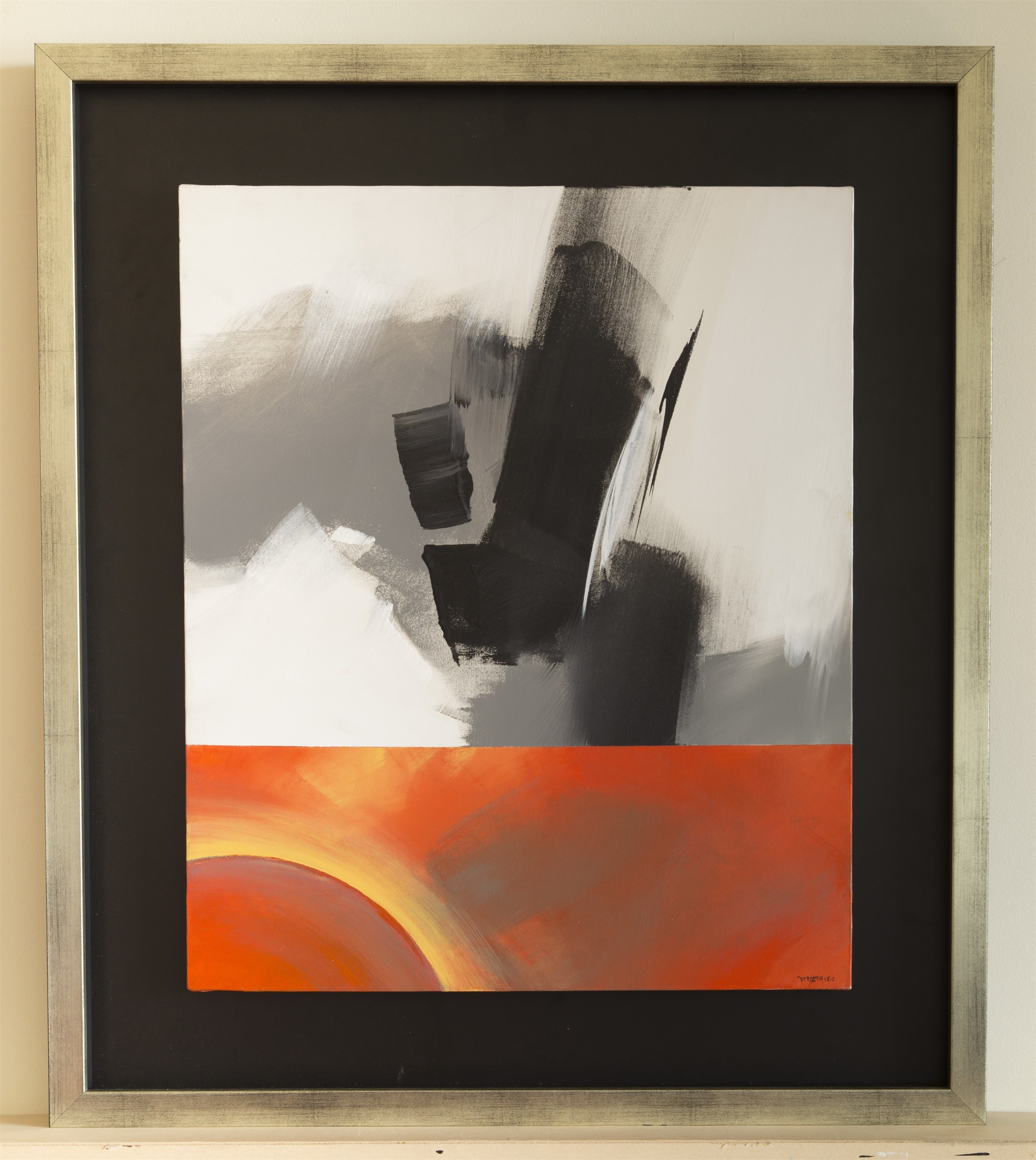 Volcanisme, original Abstract Acrylic Painting by Paul  Mathieu