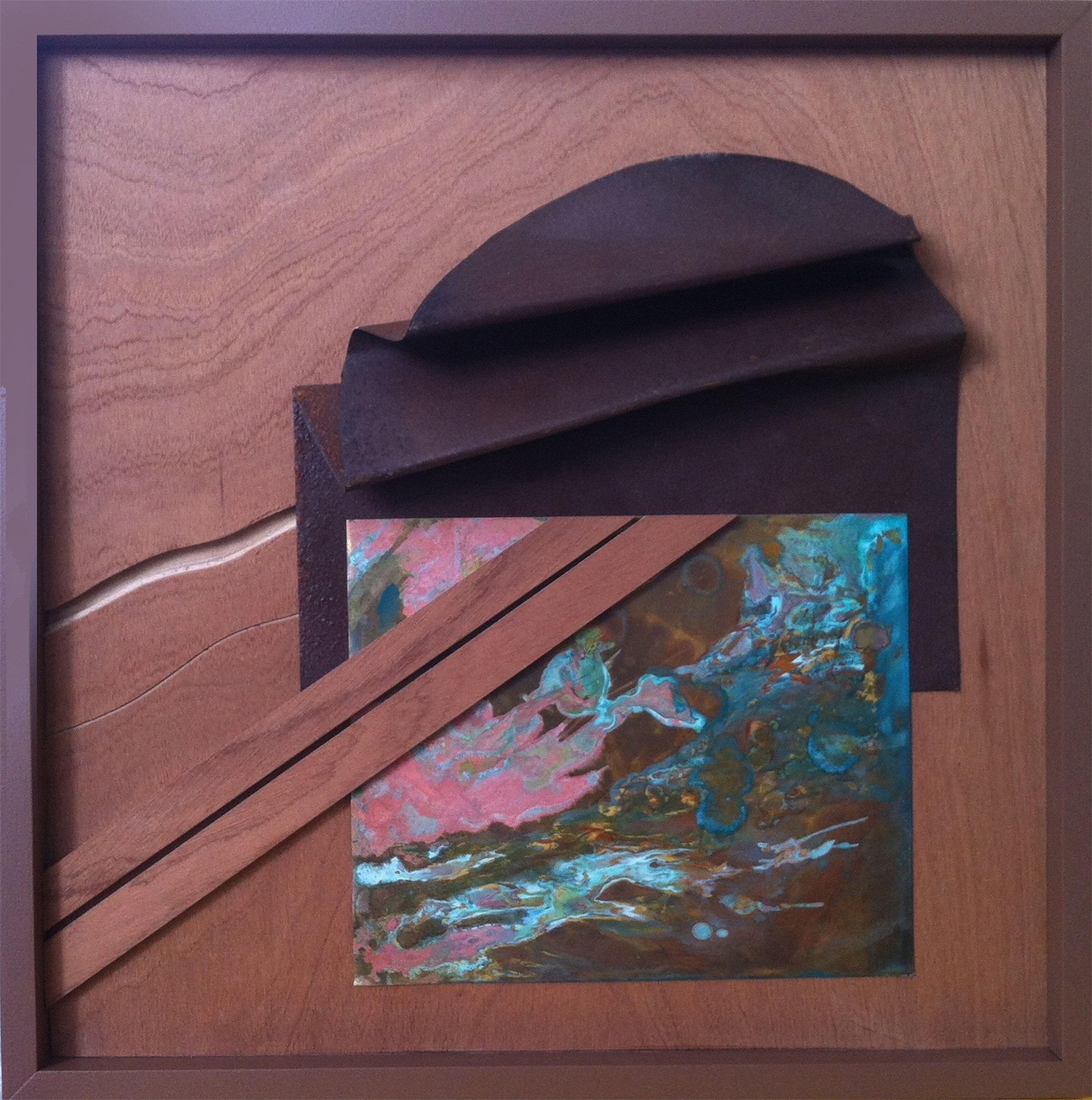 Paisagem com Dobra 2, original Abstract Wood Sculpture by Carlos Marques