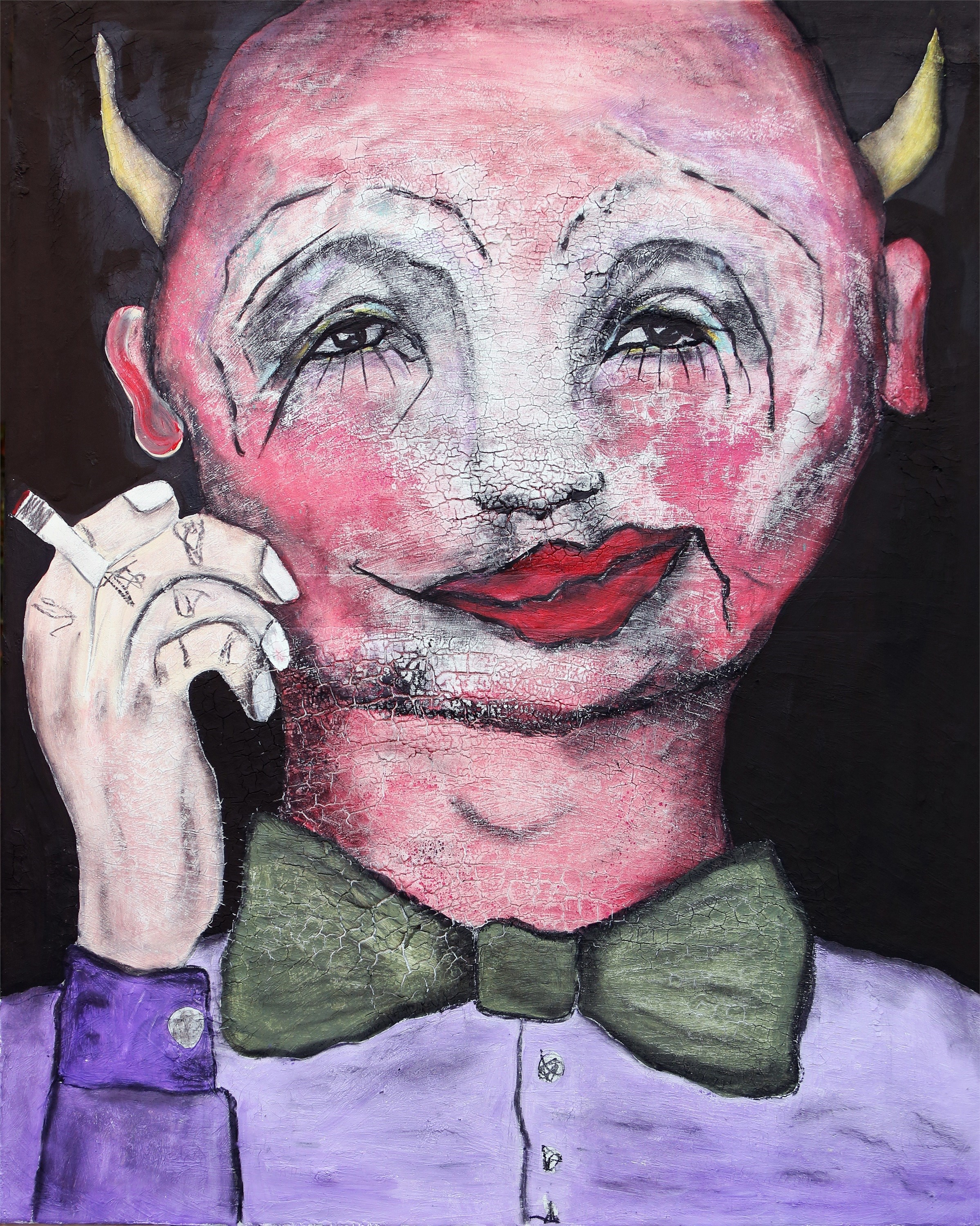 The devil in me (Nello/Arlecchino), original Avant-Garde Acrylic Painting by Pedro Mainman