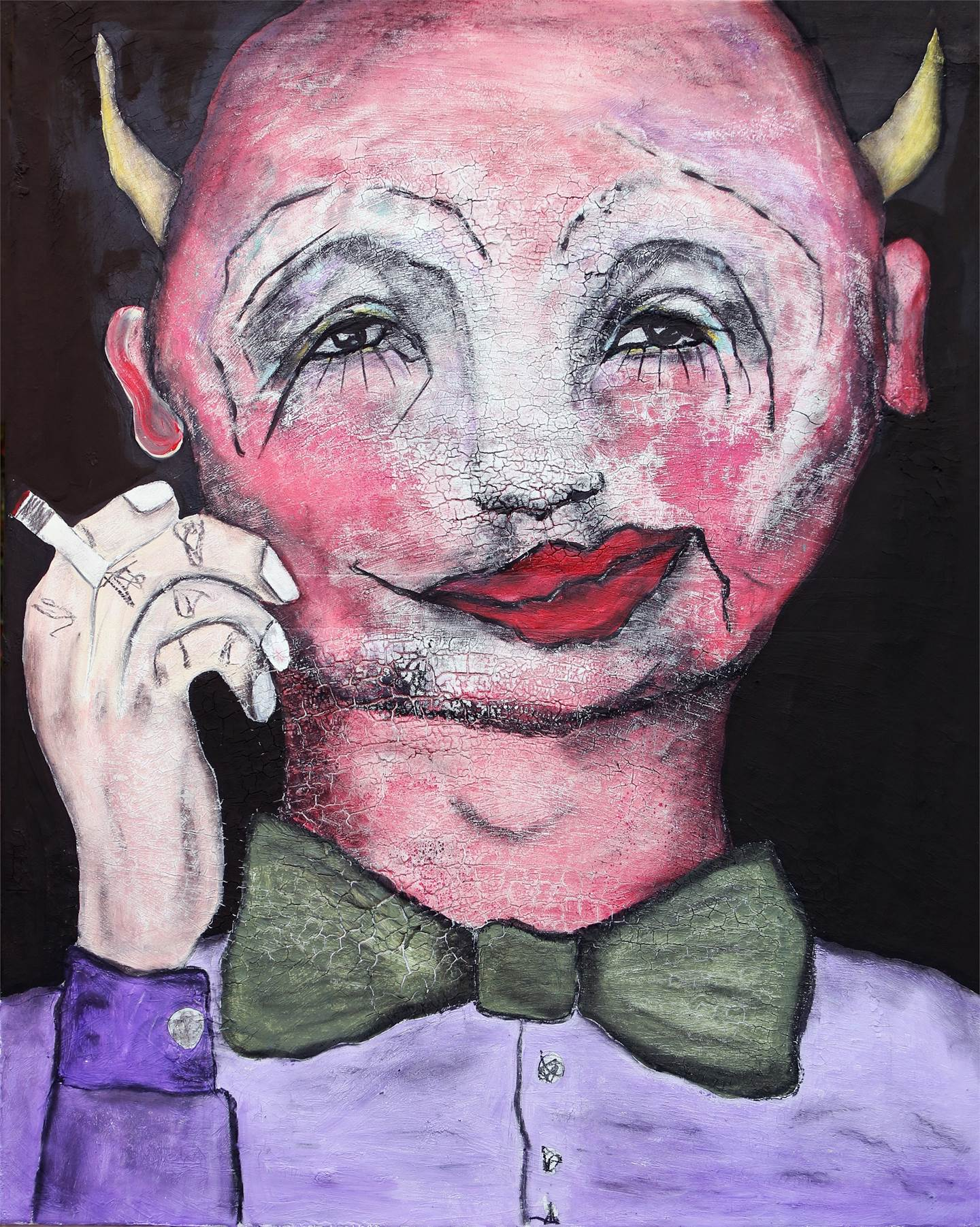 The devil in me (Nello/Arlecchino), original   Painting by Pedro Mainman
