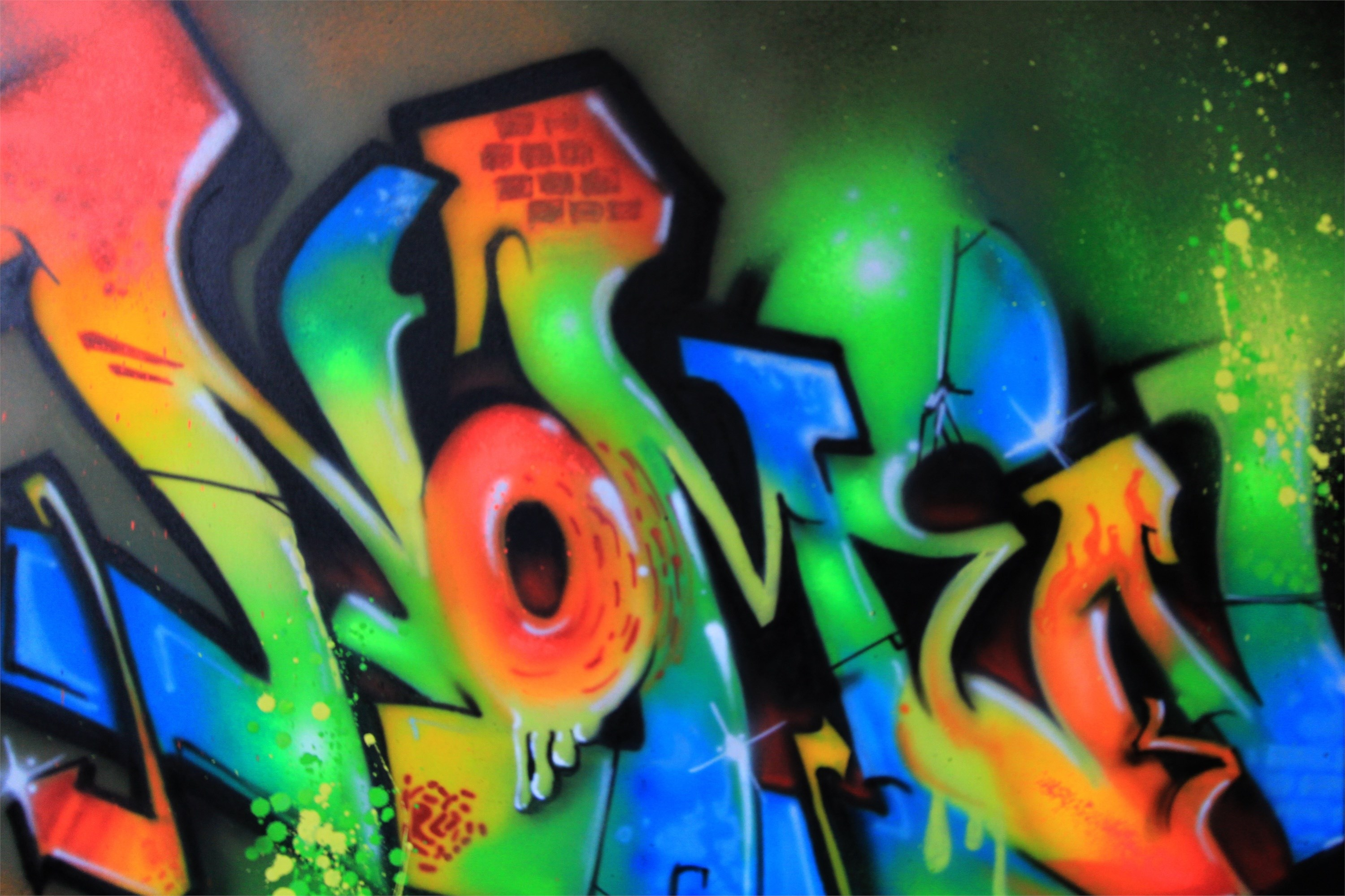 Nomen, original Abstract Graffiti Painting by Nomen Nuno