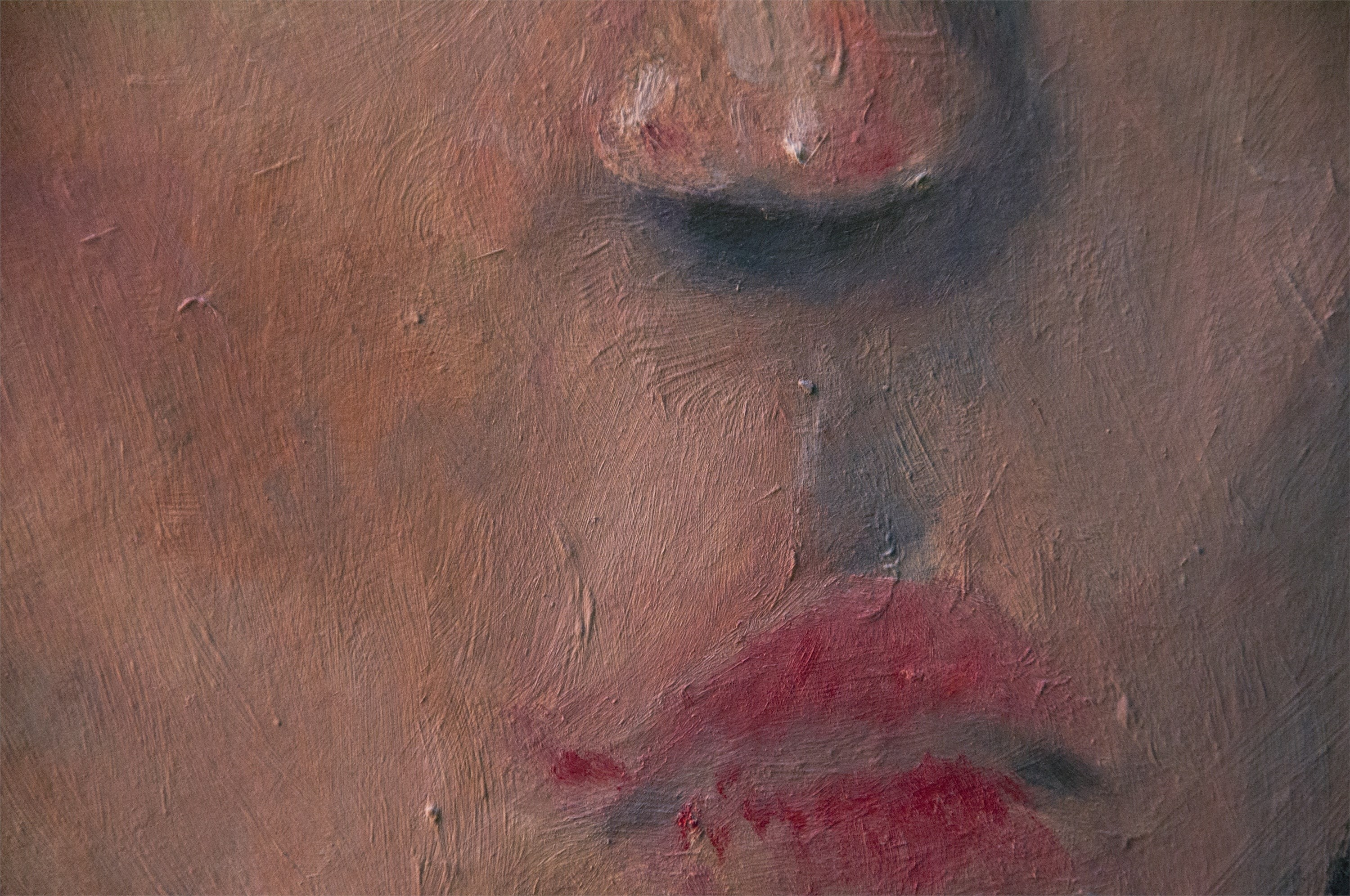 Untitled, original Human Figure Oil Painting by Hugo Travanca