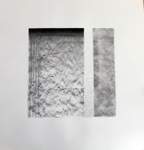 Evan Parker – Drawn Inward II, original Abstract Charcoal Drawing and Illustration by Mariana Alves
