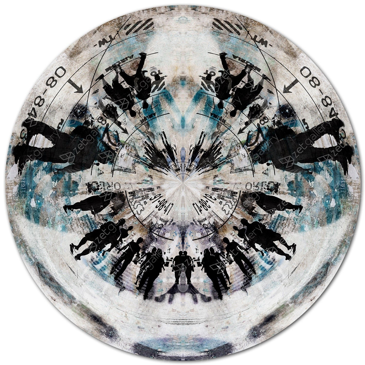 CIRCULAR AIR 8, Ø 120 cm, original Abstract Digital Photography by Sven Pfrommer