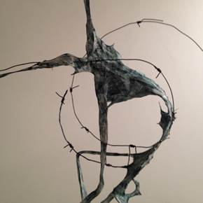 Verstrickt no 3, original Abstract Metal Sculpture by Alexius Wichtler