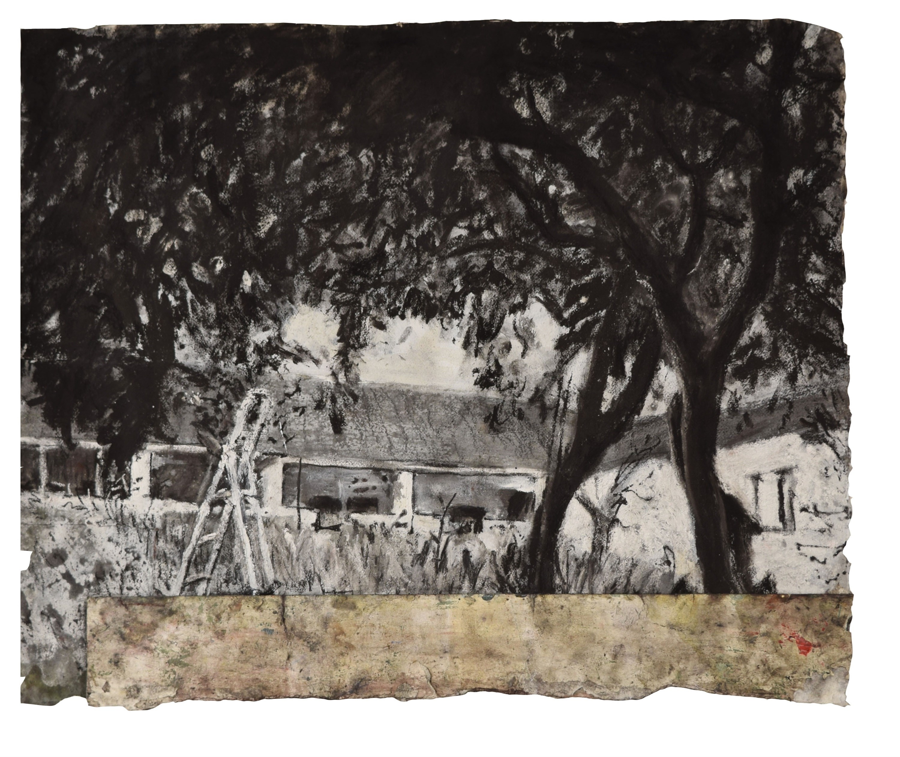 Sem título, original Landscape Charcoal Drawing and Illustration by Tiago Santos