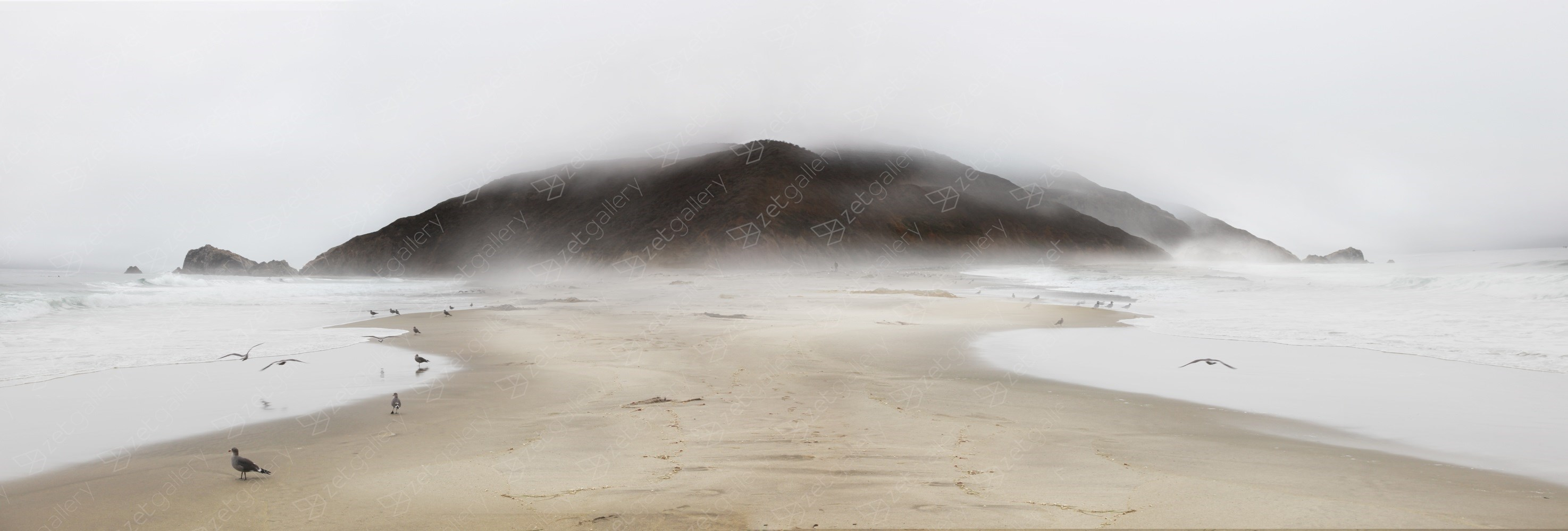 Fog and Mirage - Point Reyes California, original Landscape Digital Photography by Shimon and Tammar Rothstein