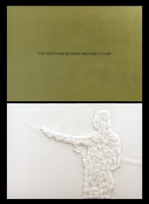 The Party Man Becomes Inevitably a Liar, Pintura Papel  original por Alexandre Baptista