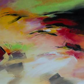 Intempérie Tropical, original Abstract Acrylic Painting by Paul  Mathieu