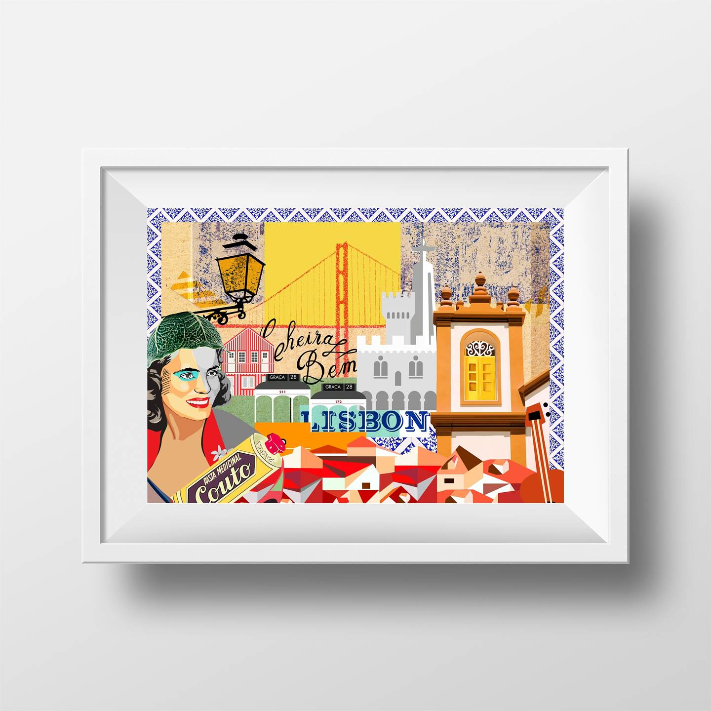 Cheira a Lisboa, original Architecture Collage Drawing and Illustration by Maria João Faustino