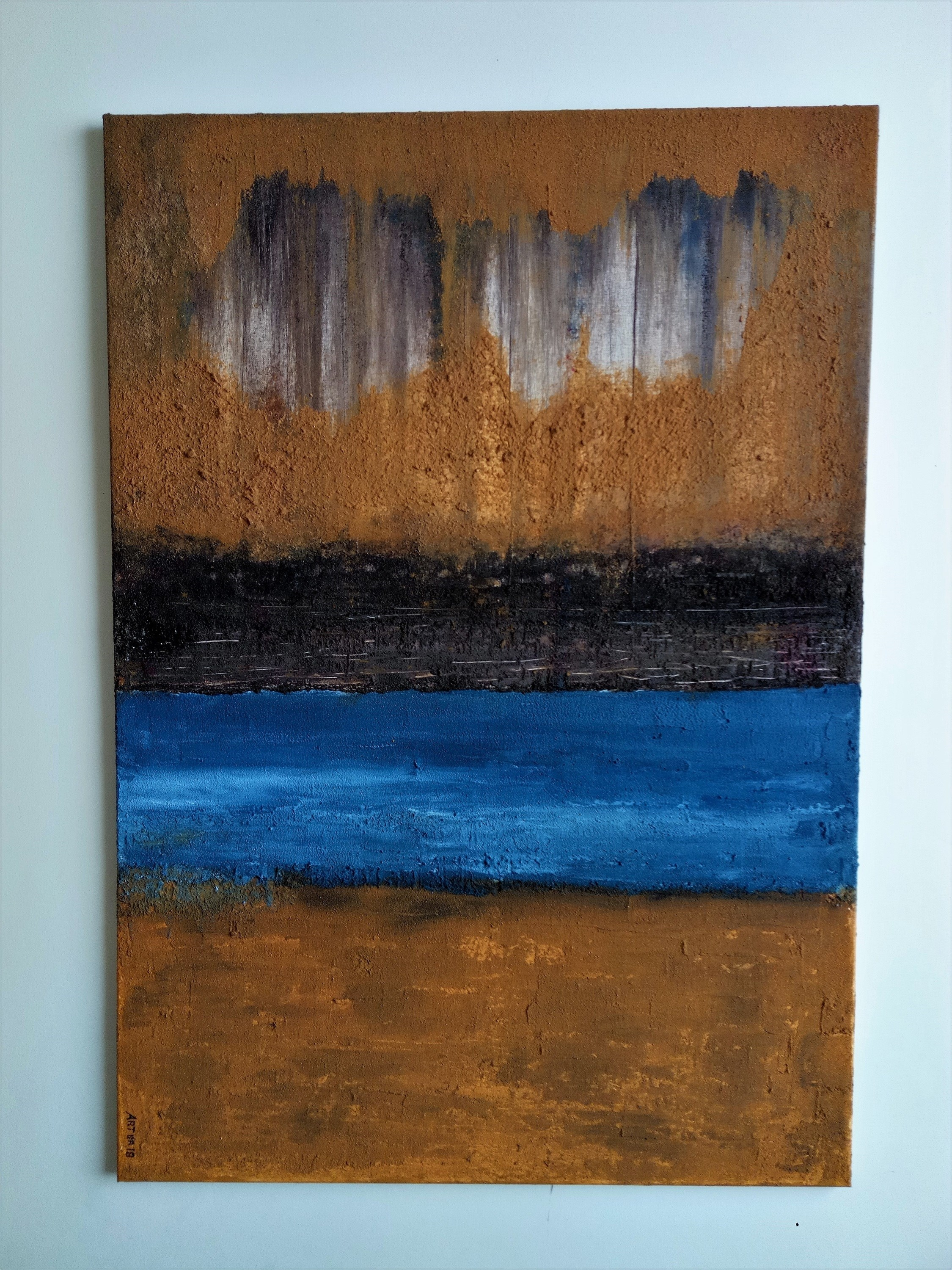 Fluir, original Abstract Canvas Painting by Artur Efigénio