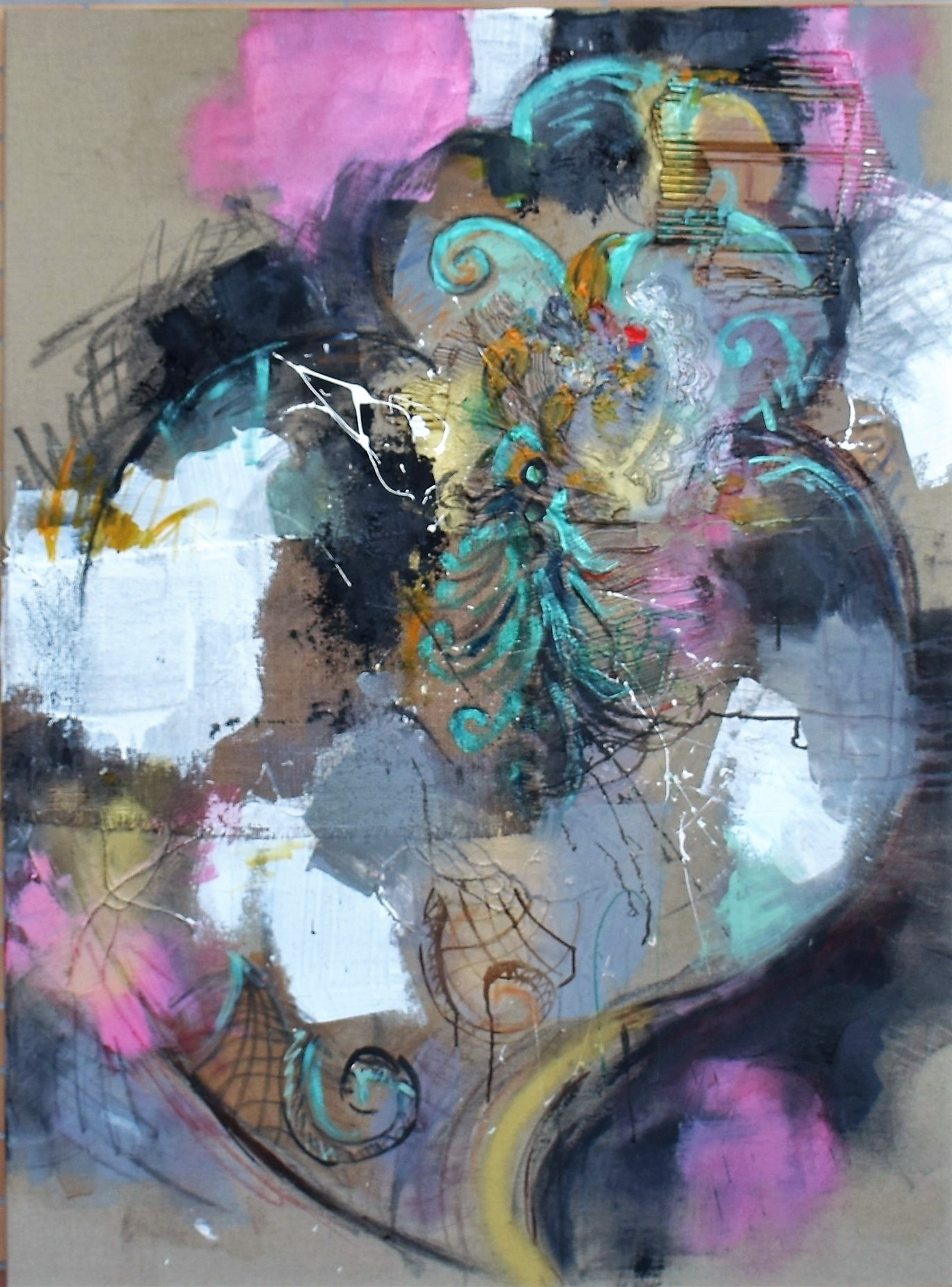 INSIDE YOU # HE POPS, Pintura Acrílico Abstrato original por ELISA  COSTA