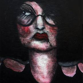 The insatisfied, original Avant-Garde Acrylic Painting by Pedro Mainman