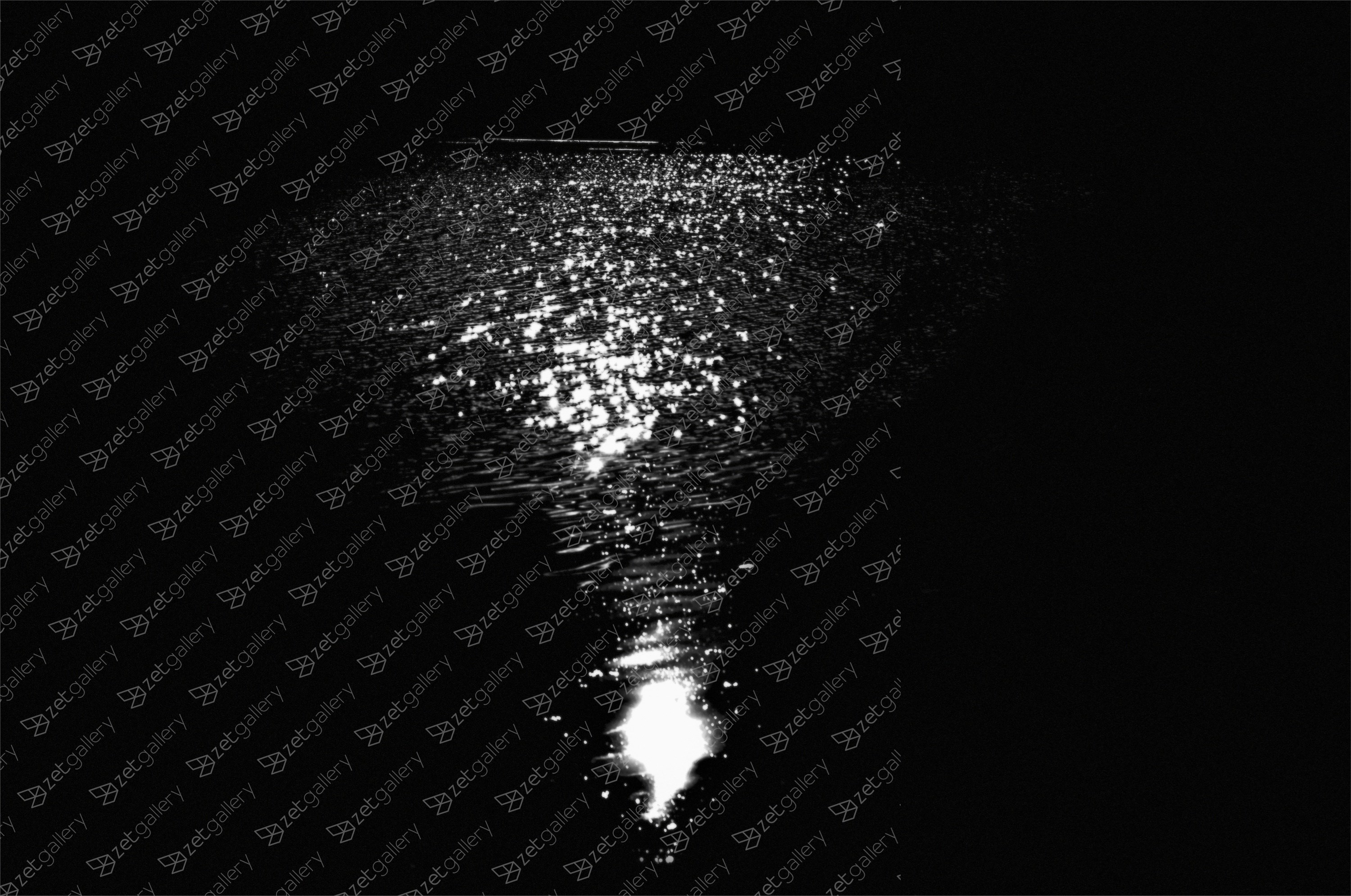 Night by the river, original B&W Digital Photography by Svetlana Neskovska
