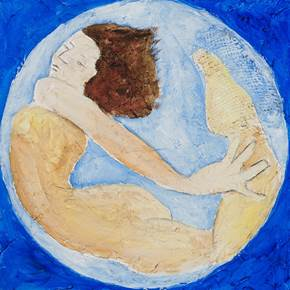 Lua azul, original Body Mixed Technique Painting by Lena Gal