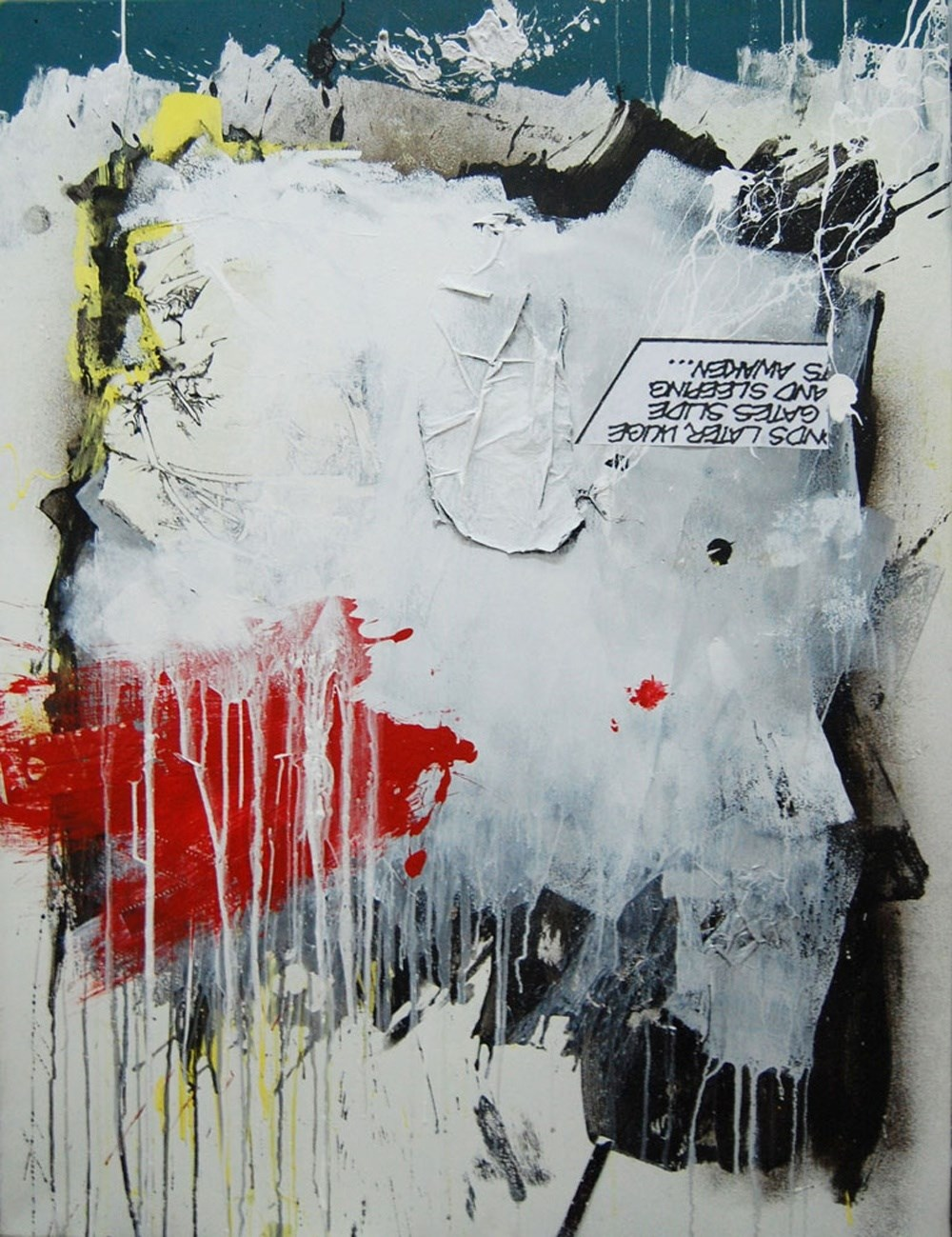 blitzkrieg brain disaster, original Abstract Canvas Painting by Sara Franco