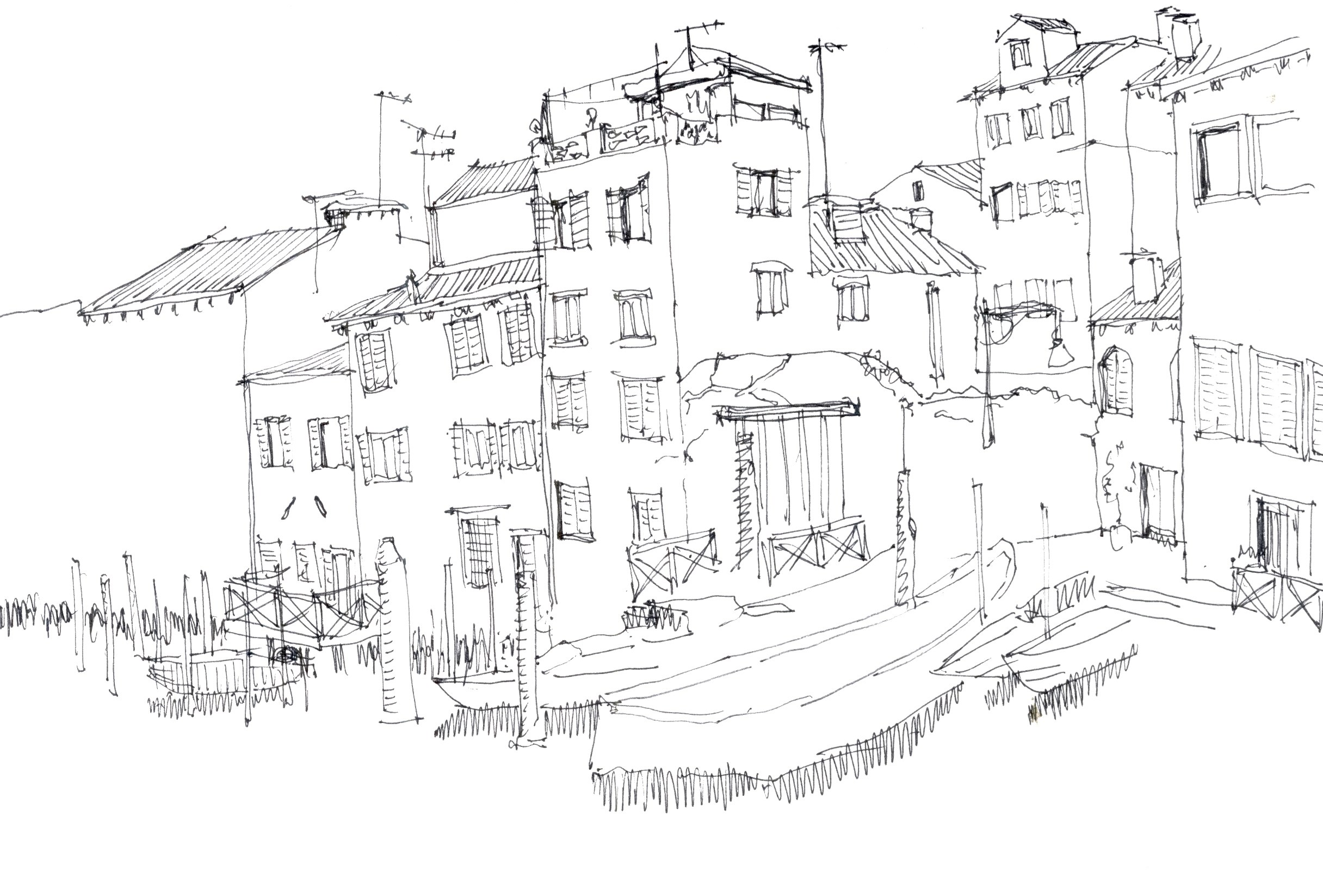 Veneza 2, original Places Pen Drawing and Illustration by João  Maia e Silva
