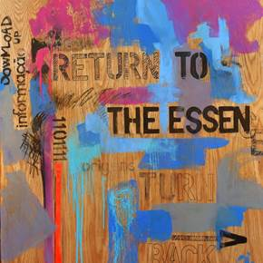 Return to The Essence I, original Abstract Mixed Technique Painting by ELISA  COSTA