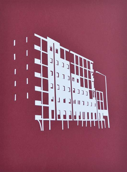 Luce 6, original Architecture Card Drawing and Illustration by Cláudia Cibrão