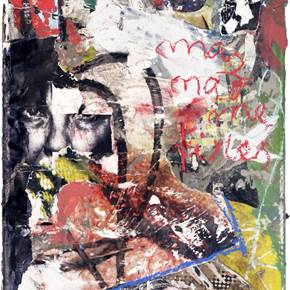 Não me tires, original Avant-Garde Canvas Painting by Alexandre Rola