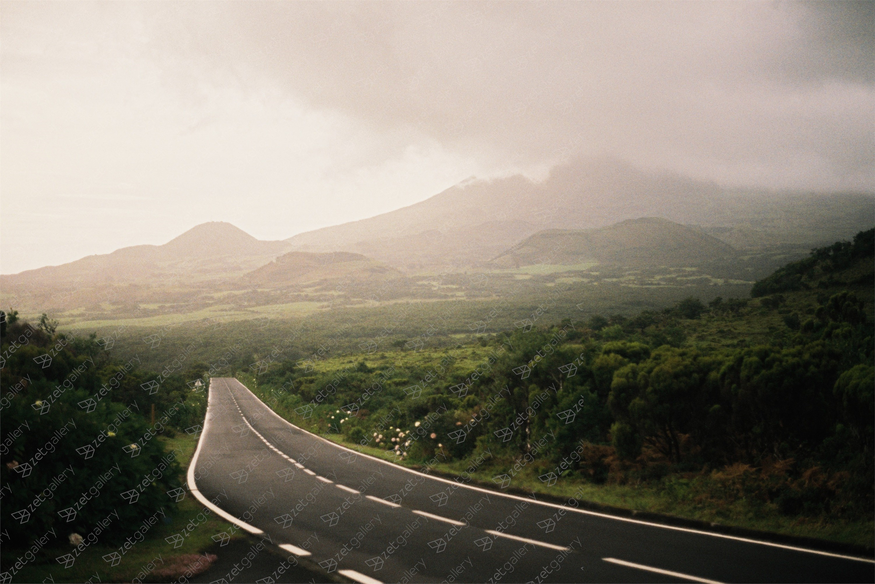 Uma estrada no meio do nada / A road in the middle of nowhere, original Landscape Analog Photography by Miguel De