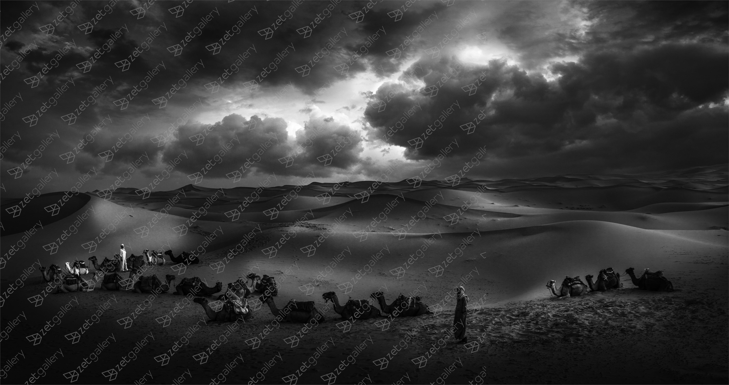 Sunrise in Sahara, original B&W Digital Photography by Ricardo BR
